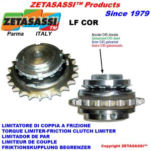 """TORQUE LIMITER WITH PLATE WHEEL """"LFCOR"""""""