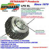 """TORQUE LIMITERS WITH CHAIN COUPLING AND SLIDING INDICATOR """"LFGSL"""""""