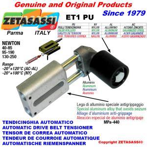 LINEAR BELT TENSIONER  ET1PU with idler roller