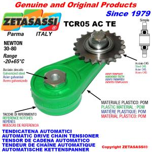 ROTARY DRIVE CHAIN TENSIONER TCR05 idler sprocket hardened