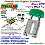 TENDICATENA LINEARE serie INOX TO1 testa ovale (PTFE)