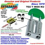 INOX LINEAR CHAIN TENSIONER TO2 round head (PTFE)