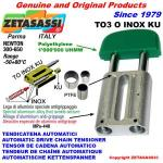 TENDICATENA LINEARE serie INOX TO3 testa ovale (PTFE)