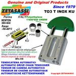 TENDICATENA LINEARE serie INOX TO3 testa tonda (PTFE)