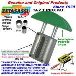 LINEAR CHAIN TENSIONER TA2 INOX round arch head (PTFE)