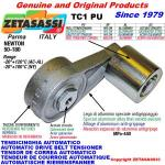 ROTARY DRIVE BELT TENSIONER TC1PU equipped idler roller