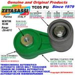 ROTARY DRIVE BELT TENSIONER TC05PU equipped idler roller