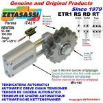 LINEAR DRIVE CHAIN TENSIONER ETR1 with idler sprocket
