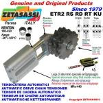 LINEAR DRIVE CHAIN TENSIONER ETR2 with idler sprocket