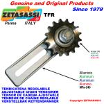 ADJUSTABLE CHAIN TENSIONER TFR with idler sprocket