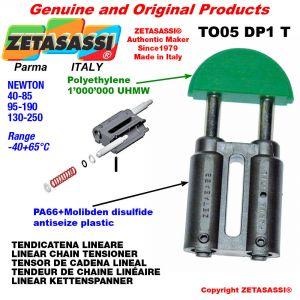 """TENDEUR DE CHAINE LINÉAIRE 06B2 3/8""""x7/32"""" double Newton 130-250"""