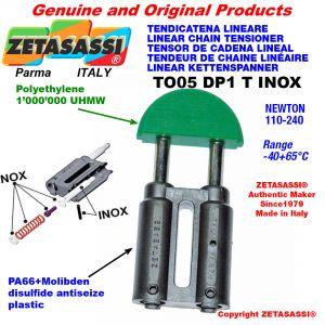 Tendicatena lineare serie inox 08A1 ASA40 semplice Newton 110-240