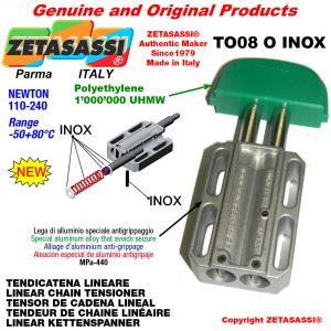 """TENDEUR DE CHAINE LINÉAIRE type INOX 08B1 1/2""""x5/16"""" simple Newton 110-240"""