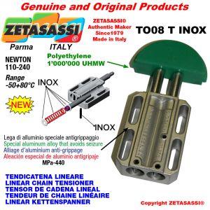 Tendicatena lineare serie inox 08A2 ASA40 doppio Newton 110-240
