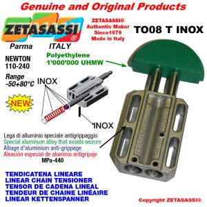 "Tendicatena lineare serie inox < 08B1 1/2""x5/16"" semplice Newton 110-240"