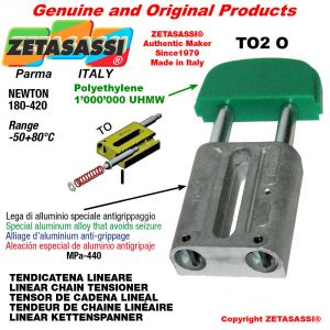 LINEAR CHAIN TENSIONER 10A2 ASA50 double Newton 180-420