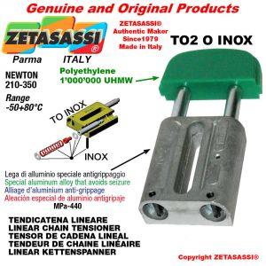 "LINEAR CHAIN TENSIONER type INOX 12B2 3/4""x7/16"" double Newton 210-350"