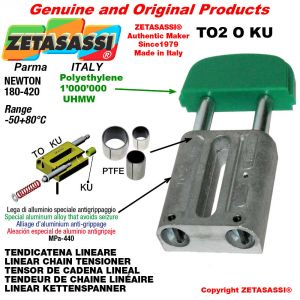"""TENDICATENA LINEARE 12B1 3/4""""x7/16"""" semplice Newton 180-420 con boccole PTFE"""