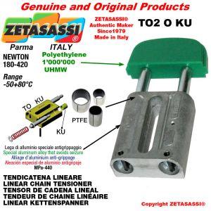 Tendicatena lineare 10A2 ASA50 doppio Newton 180-420 con boccole PTFE