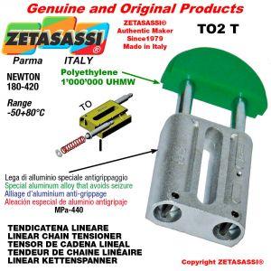"LINEAR CHAIN TENSIONER 16B1 1""x17mm simple Newton 180-420"
