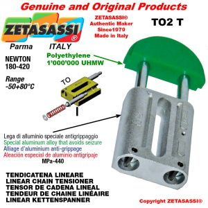 LINEAR CHAIN TENSIONER 12A2 ASA60 double Newton 180-420