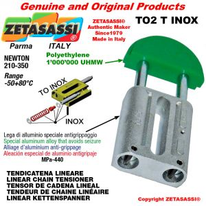 "Tendicatena lineare serie inox 12B2 3/4""x7/16"" doppio Newton 210-350"