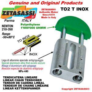 TENSOR DE CADENA LINEAL tipo INOX 10A1 ASA50 simple Newton 210-350