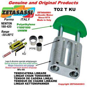 """Tendicatena lineare 10B2 5/8""""x3/8"""" doppio Newton 180-420 con boccole PTFE"""