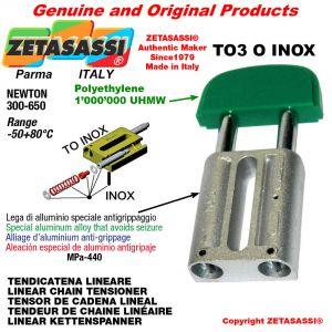 LINEAR CHAIN TENSIONER type INOX 20A1 ASA100 simple Newton 250-450
