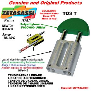 LINEAR CHAIN TENSIONER 16A2 ASA80 double Newton 300-650