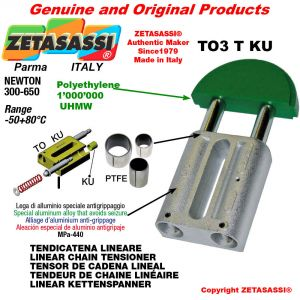 """LINEAR CHAIN TENSIONER 20B2 1""""1/4x3/4"""" double Newton 300-650 with PTFE glide bushings"""
