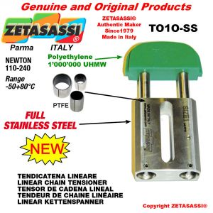 """LINEAR CHAIN TENSIONER Completely in stainless steel < 08B1 1/2""""x5/16"""" simple Newton 110-240"""