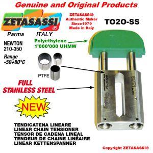 """TENDICATENA LINEARE Completamente in acciaio inox 10B2 5/8""""x3/8"""" doppia Newton 210-350"""