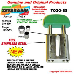 "TENSOR DE CADENA LINEAL completamente de acero inoxidable 16B1 1""x17mm simple Newton 210-350"