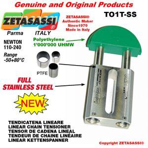 """TENSOR DE CADENA LINEAL completamente de acero inoxidable 08B1 1/2""""x5/16"""" simple Newton 110-240"""