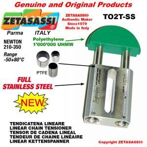 """TENSOR DE CADENA LINEAL completamente de acero inoxidable 10B1 5/8""""x3/8"""" simple Newton 210-350"""