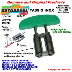 TENSOR DE CADENA LINEAL tipo INOX 08A2 ASA40 doble Newton 110-240