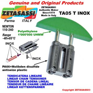 TENDEUR DE CHAINE LINÉAIRE type INOX 08A2 ASA40 double Newton 110-240