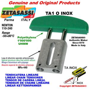 LINEAR CHAIN TENSIONER type INOX 08A2 ASA40 double Newton 110-240