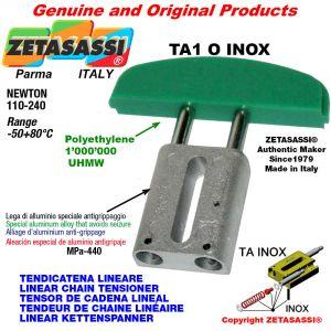 LINEAR CHAIN TENSIONER type INOX 06C2 ASA35 double Newton 110-240