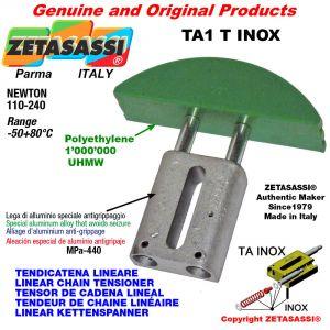 Tendicatena lineare serie inox 08A3 ASA40 triplo Newton 110-240