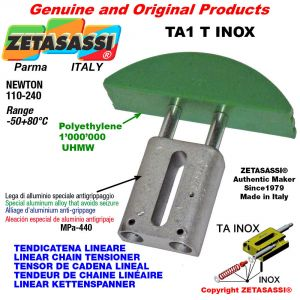 "TENSOR DE CADENA LINEAL tipo INOX 06B2 3/8""x7/32"" doble Newton 110-240"