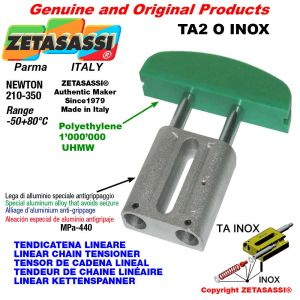 LINEAR CHAIN TENSIONER type INOX 10A2 ASA50 double Newton 210-350
