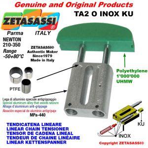 Tendicatena lineare serie inox 10A2 ASA50 doppio Newton 210-350 con boccole PTFE