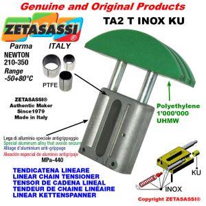 Tendicatena lineare serie inox 12A3 ASA60 triplo Newton 210-350 con boccole PTFE