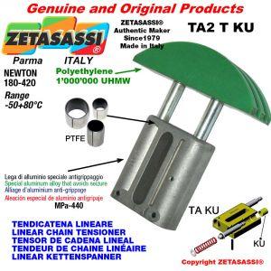 "TENSOR DE CADENA LINEAL 12B1 3/4""x7/16"" simple Newton 180-420 con casquillos PTFE"