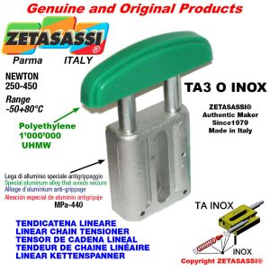 TENSOR DE CADENA LINEAL tipo INOX 16A1 ASA80 simple Newton 250-450