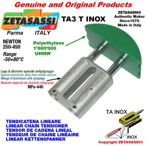 LINEAR CHAIN TENSIONER type INOX 16A3 ASA80 triple Newton 250-450