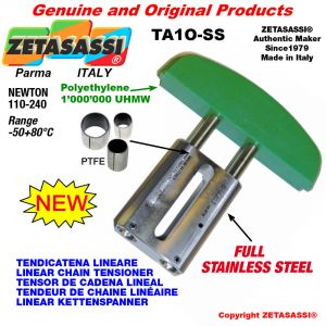 LINEAR CHAIN TENSIONER Completely in stainless steel 08A2 ASA40 double Newton 110-240