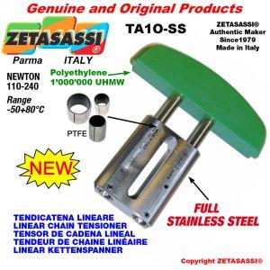 """TENDICATENA LINEARE Completamente in acciaio inox 08B1 1/2""""x5/16"""" semplice Newton 110-240"""